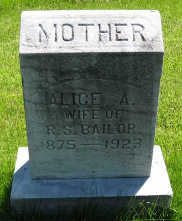 BAILOR, ALICE A. - Juniata County, Pennsylvania | ALICE A. BAILOR - Pennsylvania Gravestone Photos