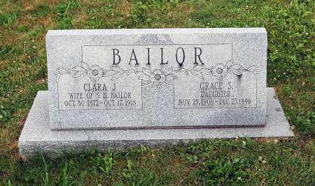 BAILOR, CLARA JANE - Juniata County, Pennsylvania | CLARA JANE BAILOR - Pennsylvania Gravestone Photos