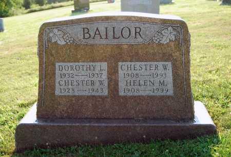 BAILOR, CHESTER WEIMER - Juniata County, Pennsylvania | CHESTER WEIMER BAILOR - Pennsylvania Gravestone Photos
