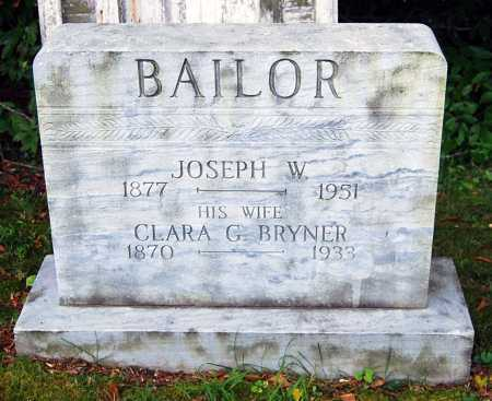 BAILOR, JOSEPH WEIMER - Juniata County, Pennsylvania | JOSEPH WEIMER BAILOR - Pennsylvania Gravestone Photos