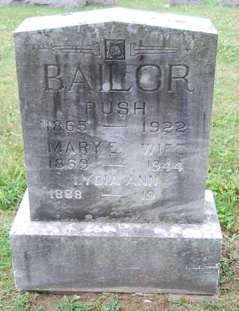 BOWERS BAILOR, MARY E. - Juniata County, Pennsylvania | MARY E. BOWERS BAILOR - Pennsylvania Gravestone Photos