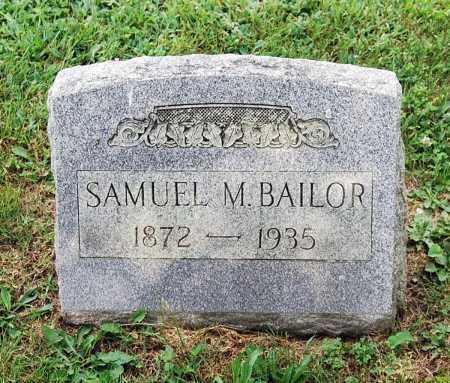 BAILOR, SAMUEL M. - Juniata County, Pennsylvania   SAMUEL M. BAILOR - Pennsylvania Gravestone Photos