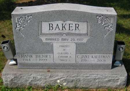 BAKER, FRANK HENRY - Juniata County, Pennsylvania | FRANK HENRY BAKER - Pennsylvania Gravestone Photos
