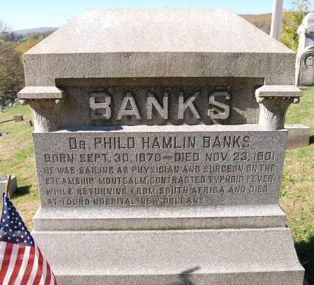 BANKS, PHILO HAMLIN - Juniata County, Pennsylvania | PHILO HAMLIN BANKS - Pennsylvania Gravestone Photos