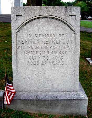 BAREFOOT, HERMAN F. - Juniata County, Pennsylvania | HERMAN F. BAREFOOT - Pennsylvania Gravestone Photos