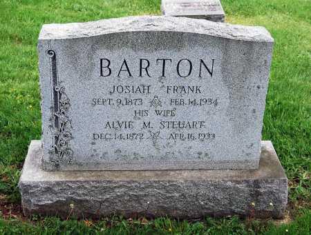 "STEUART BARTON, ALVERETA ""ALVIE"" M. - Juniata County, Pennsylvania | ALVERETA ""ALVIE"" M. STEUART BARTON - Pennsylvania Gravestone Photos"