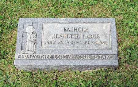 BASHORE, JEANNETTE LARUE - Juniata County, Pennsylvania | JEANNETTE LARUE BASHORE - Pennsylvania Gravestone Photos