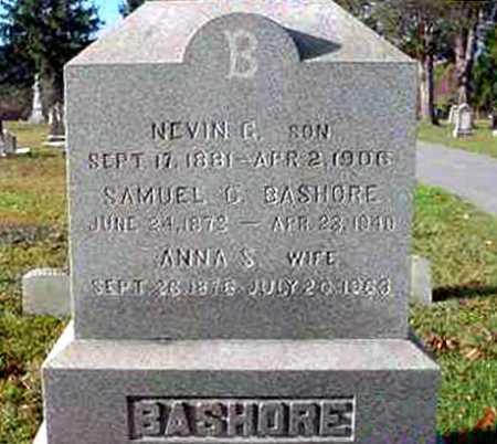 BASHORE, NEVIN G. - Juniata County, Pennsylvania | NEVIN G. BASHORE - Pennsylvania Gravestone Photos