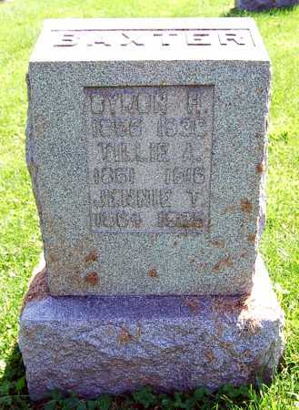 BAXTER, BYRON H. - Juniata County, Pennsylvania | BYRON H. BAXTER - Pennsylvania Gravestone Photos