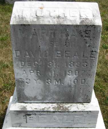 BEALE, MARTHA E. - Juniata County, Pennsylvania | MARTHA E. BEALE - Pennsylvania Gravestone Photos