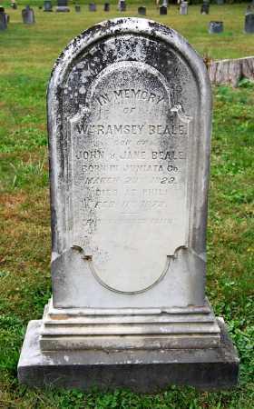 BEALE, WILLIAM RAMSEY - Juniata County, Pennsylvania | WILLIAM RAMSEY BEALE - Pennsylvania Gravestone Photos