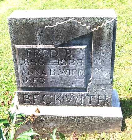 BECKWITH, ANNA B. - Juniata County, Pennsylvania | ANNA B. BECKWITH - Pennsylvania Gravestone Photos