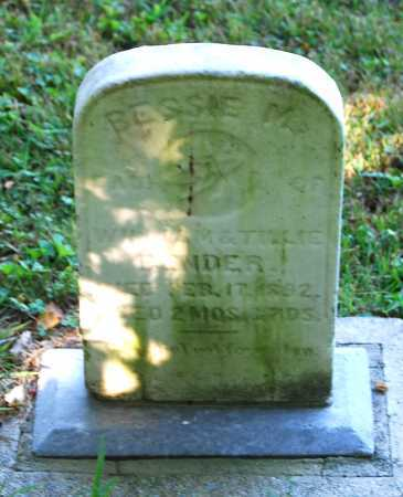 BENDER, BESSIE M. - Juniata County, Pennsylvania | BESSIE M. BENDER - Pennsylvania Gravestone Photos