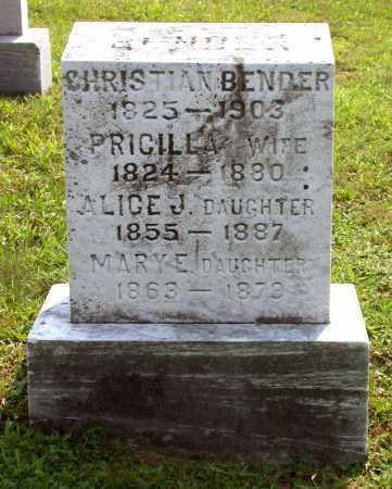 BENDER, ALICE JANE - Juniata County, Pennsylvania | ALICE JANE BENDER - Pennsylvania Gravestone Photos