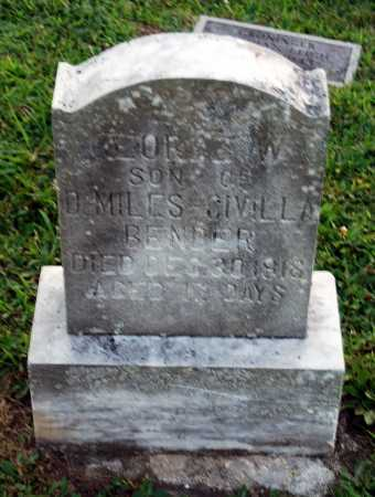BENDER, GEORGE W. - Juniata County, Pennsylvania   GEORGE W. BENDER - Pennsylvania Gravestone Photos