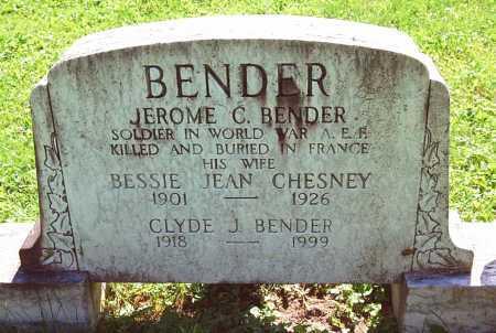 BENDER, JEROME C. - Juniata County, Pennsylvania | JEROME C. BENDER - Pennsylvania Gravestone Photos