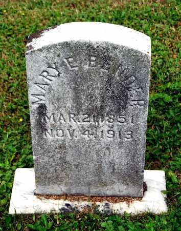 BENDER, MARY E. - Juniata County, Pennsylvania | MARY E. BENDER - Pennsylvania Gravestone Photos
