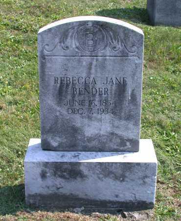 BENDER, REBECCA JANE - Juniata County, Pennsylvania | REBECCA JANE BENDER - Pennsylvania Gravestone Photos