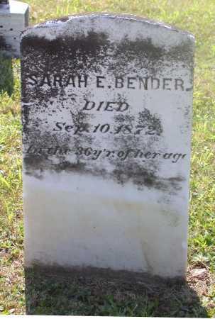 BENDER, SARAH E. - Juniata County, Pennsylvania | SARAH E. BENDER - Pennsylvania Gravestone Photos