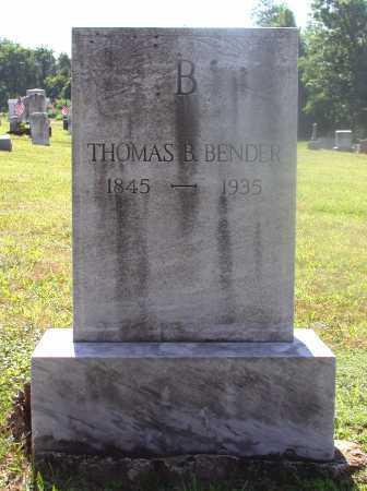 BENDER, THOMAS B. - Juniata County, Pennsylvania | THOMAS B. BENDER - Pennsylvania Gravestone Photos
