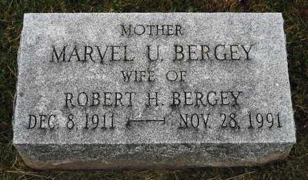 BERGEY, MARVEL U. - Juniata County, Pennsylvania | MARVEL U. BERGEY - Pennsylvania Gravestone Photos