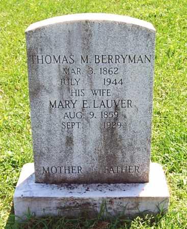 BERRYMAN, THOMAS M. - Juniata County, Pennsylvania   THOMAS M. BERRYMAN - Pennsylvania Gravestone Photos