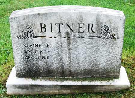 BITNER, BLAINE E. - Juniata County, Pennsylvania   BLAINE E. BITNER - Pennsylvania Gravestone Photos