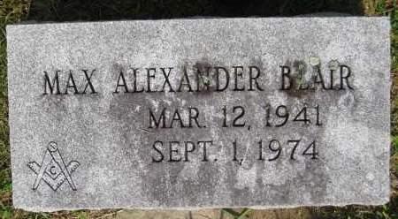BLAIR, MAX ALEXANDER - Juniata County, Pennsylvania   MAX ALEXANDER BLAIR - Pennsylvania Gravestone Photos