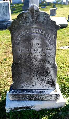 BONSALL, AMOS GUSTINE - Juniata County, Pennsylvania | AMOS GUSTINE BONSALL - Pennsylvania Gravestone Photos