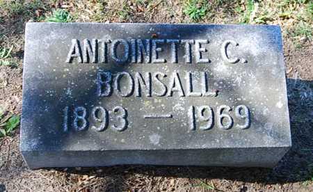 BONSALL, ANTOINETTE C. - Juniata County, Pennsylvania | ANTOINETTE C. BONSALL - Pennsylvania Gravestone Photos