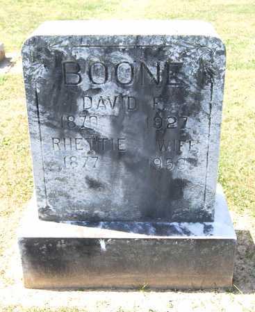 BOONE, RHETTIE - Juniata County, Pennsylvania | RHETTIE BOONE - Pennsylvania Gravestone Photos