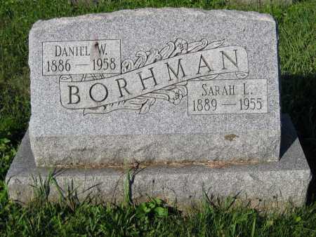 BORHMAN, DANIEL W. - Juniata County, Pennsylvania | DANIEL W. BORHMAN - Pennsylvania Gravestone Photos