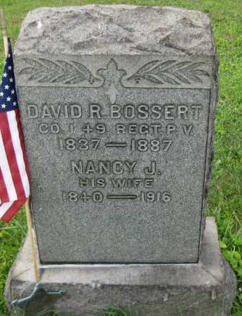 BOSSERT, DAVID R. - Juniata County, Pennsylvania | DAVID R. BOSSERT - Pennsylvania Gravestone Photos
