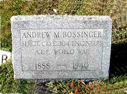BOSSINGER, ANDREW M. - Juniata County, Pennsylvania | ANDREW M. BOSSINGER - Pennsylvania Gravestone Photos