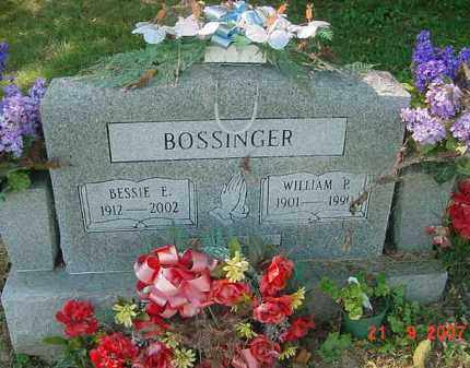 BOSSINGER, WILLIAM P. - Juniata County, Pennsylvania | WILLIAM P. BOSSINGER - Pennsylvania Gravestone Photos