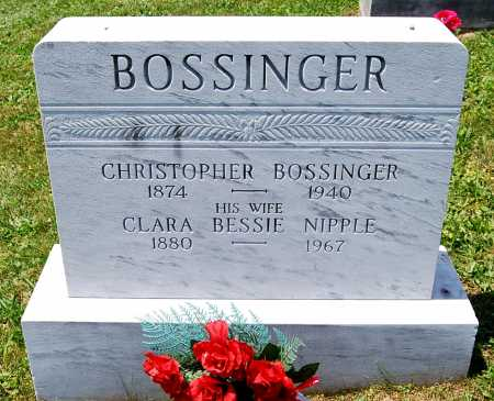 BOSSINGER, CHRISTOPHER - Juniata County, Pennsylvania | CHRISTOPHER BOSSINGER - Pennsylvania Gravestone Photos