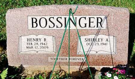 BOSSINGER, SHIRLEY A. - Juniata County, Pennsylvania | SHIRLEY A. BOSSINGER - Pennsylvania Gravestone Photos