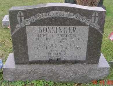 BOSSINGER, ROBERT A. - Juniata County, Pennsylvania | ROBERT A. BOSSINGER - Pennsylvania Gravestone Photos