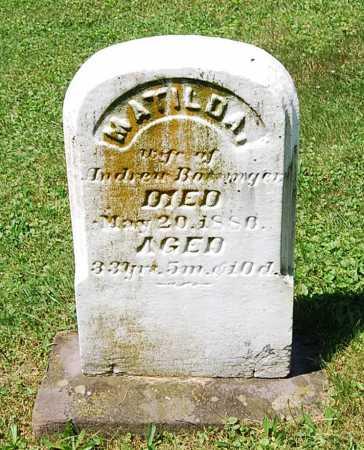 BOSSINGER, MATILDA - Juniata County, Pennsylvania | MATILDA BOSSINGER - Pennsylvania Gravestone Photos