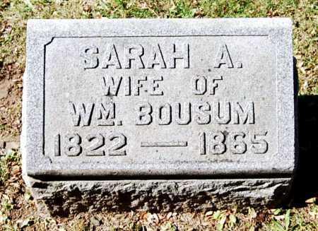 BOUSUM, SARAH A. - Juniata County, Pennsylvania | SARAH A. BOUSUM - Pennsylvania Gravestone Photos
