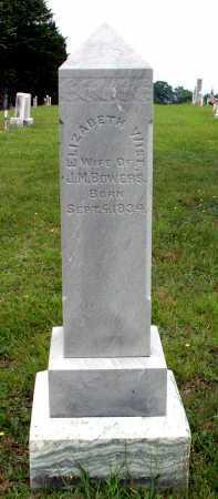 WISE BOWERS, ELIZABETH - Juniata County, Pennsylvania | ELIZABETH WISE BOWERS - Pennsylvania Gravestone Photos