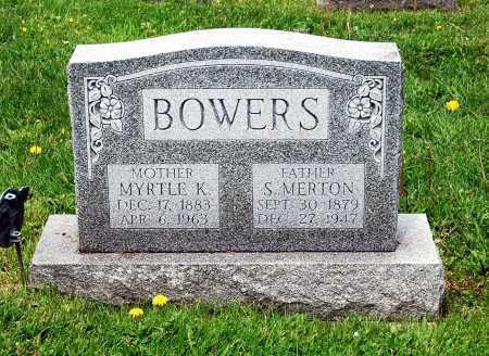 CALHOUN BOWERS, MYRTLE KILMER - Juniata County, Pennsylvania | MYRTLE KILMER CALHOUN BOWERS - Pennsylvania Gravestone Photos