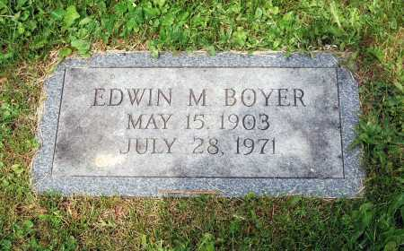 BOYER, EDWIN MATLACK - Juniata County, Pennsylvania | EDWIN MATLACK BOYER - Pennsylvania Gravestone Photos