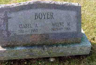 BOYER, WAYNE M. - Juniata County, Pennsylvania   WAYNE M. BOYER - Pennsylvania Gravestone Photos