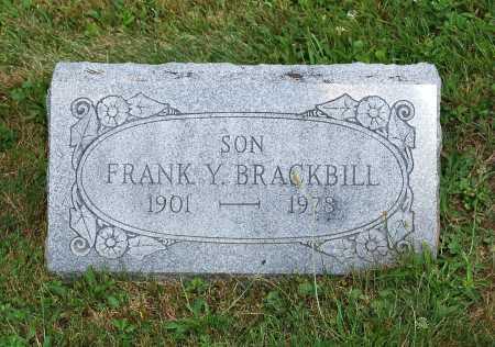 BRACKBILL, FRANK Y. - Juniata County, Pennsylvania | FRANK Y. BRACKBILL - Pennsylvania Gravestone Photos