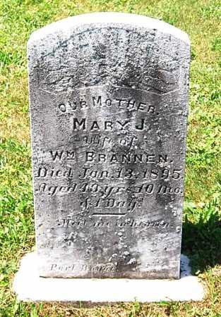 BRANNEN, MARY J. - Juniata County, Pennsylvania | MARY J. BRANNEN - Pennsylvania Gravestone Photos