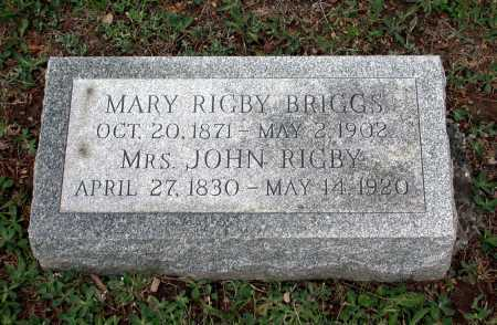 BRIGGS, MARY - Juniata County, Pennsylvania | MARY BRIGGS - Pennsylvania Gravestone Photos
