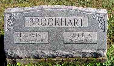BROOKHART, BENJAMIN F. - Juniata County, Pennsylvania | BENJAMIN F. BROOKHART - Pennsylvania Gravestone Photos