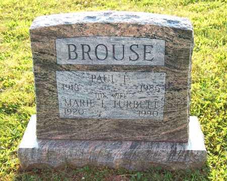 BROUSE, MARIE I. - Juniata County, Pennsylvania | MARIE I. BROUSE - Pennsylvania Gravestone Photos