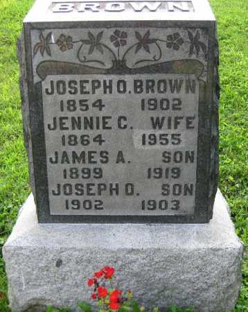 BROWN, JENNIE C. - Juniata County, Pennsylvania | JENNIE C. BROWN - Pennsylvania Gravestone Photos
